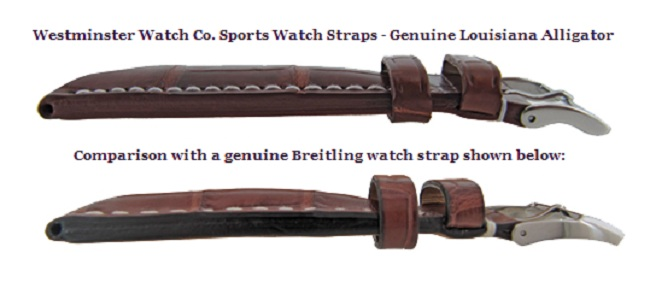 genuine breitling watch straps